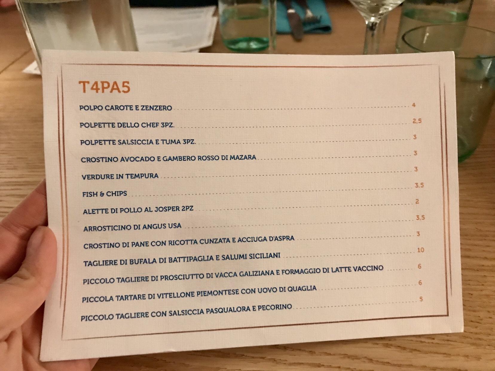 cento61 menu palermo