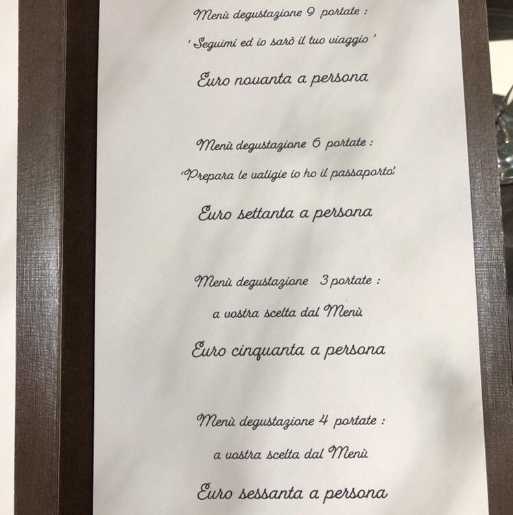 livello1 menu degustazione